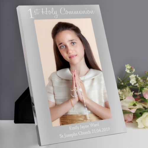 Personalised First Holy Communion 5x7 Portrait Photo Frame